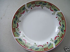 "Gibson Everyday Christmas Fine China Dinnerware Holly 7 1/2"" Bread Side Plate"