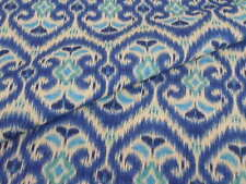 Iman Home ALHAMBRA AMOUR BLUE LAGOON Ikat  Drapery Upholstery Sewing Fabric