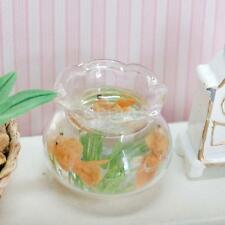 Dollhouse Miniature Ornament Accessory Pet Fish Bowl with Orange Goldfish
