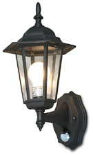 Outdoor Wall Mount Lantern With PIR Motion Detect Sensor + Time/LITE Control