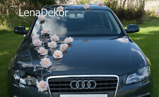 wedding car decoration, ribbon , bows, prom limusine decoration, LAURA ec/cream