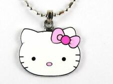 15 Pieces of Enamel Hello Kitty Face Charms / Pendants - Brand New