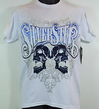 Silver Star Casting Company Men White Cotton Knit Graphic T Shirt Size Small