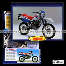 #097.01 Fiche Moto HONDA XR 600 R 1992 Trail Bike Motorcycle Card