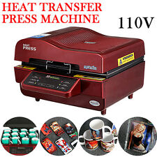110v 3D Vacuum Sublimation Heat Press Transfer Machine For Phone Cases Mugs Cups