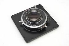= Wollensak Raptar 135mm f4.7 Lens on Rapax Shutter for Graflex 4x5 with Board
