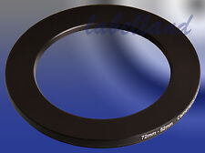 72mm-52mm 72-52 Filter Adaptor Ring Converts 72mm lens thread to 52mm Step-Down
