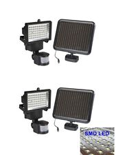 2Pack 60 SMD LED Solar Powered Motion Sensor Security Light Flood Light Lamp