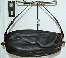 sac à main KENZO forme ovale cuir souple noir marbré