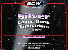 10 BCW NEW  SILVER Comic Book Hard Top loader Holders - ten Rigid Toploader