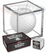 (8) Golf Ball Display Case Stackable Square Cube Holder Stand by BCW