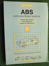 AUTODATA ABS ANTI-LOCK BRAKES BRAKING SYSTEMS MANUAL ford bmw citroen 1991-1995