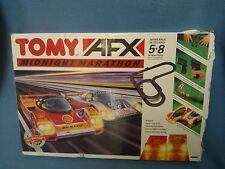 Aurora Tomy AFX Midnight Marathon Slot Car Racing Set in Original Box.
