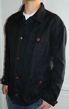 RALPH LAUREN Sz. XL X-Large JACKET Coat BLACK Safari LINEN Blend Lightweight   k