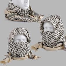 Beige Shemagh Lightweight Arab Ghutrah Desert Keffiyeh Scarf Face Cover Cotton