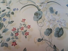 Vintage 90s YORK Carey Lind Designs Floral Lilly Wallpaper 4 Rolls~New Old Stock