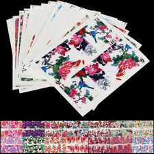 50 Sheets /Lot Mixed Flower Stickers DIY Water Transfer Nail Art Decals Decor