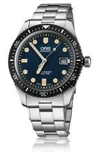 NEW ORIS HERITAGE DIVERS SIXTY-FIVE 42MM DARK BLUE DIAL BRACELET 733 7720 4055