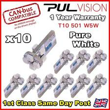 10 x 8 PURE WHITE SMD LED 501 T10 W5W WEDGE CANBUS ERROR FREE SIDE LIGHT BULB