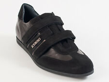 New  Iceberg Black Leather & Suede Made in Italy Shoes Size 45 US 12