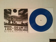 "THE BEATLES - Live Japan EP 7"" Blue Vinyl 45 rpm Rare Record  OOP Never Played"