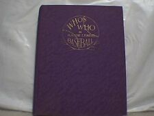 WHO'S WHO IN MAJOR LEAGUE BASEBALL 1933 FIRST EDITION NICE