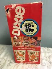 Vintage Dixie Cups Chicken Retro Spices Kitchen 5 oz refill pack 70s Estate Mod