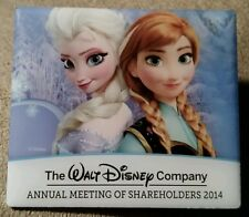 DIsney 2014 Walt Disney Company Share holders Meeting Frozen Anna and Elsa Pin