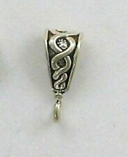 925 Sterling Silver 13mm Decorated Bail, Findings & Jewelry Supplies
