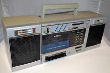 """VINTAGE SONY """"TRANSOUND"""" AM/FM STEREO CASSETTE BOOMBOX #CFS-3000 - EXC!!"""