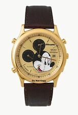 NEW Mens Disney Mickey Mouse Chronograph Date SEIKO Alarm Watch