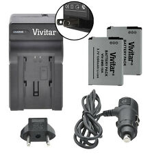 Vivitar Dual Battery SLB-10A & Charger Kit for Samsung WB350F WB1100F