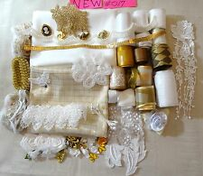 NEW #017 GREAT VALUE CRAFTING KITS FABRIC-LACE-RIBBON-FLOWER-QUILTNG SCRAPBOOK