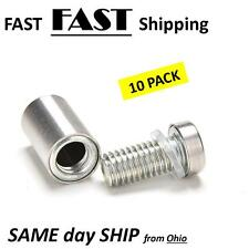 10x Stainless Stand off Bolts Mount Standoffs Sign Advertisement Fixings