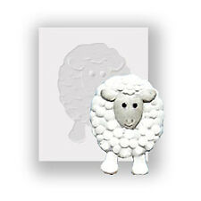 Silicone Mould - Sheep - Flat Backed Mini Sculpture - Food Safe