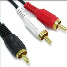 1.5M 5FT 1 RCA Male to 2 RCA Male Y Cable NEW plitter Video Audio subwoofer