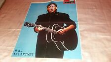 paul mc cartney-spanish clippins + poster 50x45