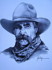Sam Elliot drawing print