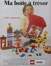 PUBLICITE LEGO JEU DE CONSTRUCTION BOITE A TRESOR TOYS DE 1988 FRENCH AD PUB