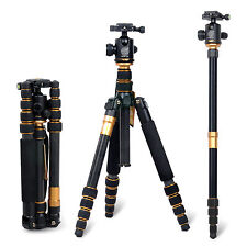 Professional Carbon Fibre Tripod Ball Head Monopod Bag For Digital Camera DSLR
