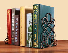 Pair of Metal Foldable Vintage Bookends/Book ends Home Ornaments