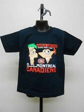 NEW Montreal Canadiens PHINEAS & FERB Kids S Small Size 4 Majestic Shirt