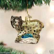 *Lynx* Wild Cat [12361] Old World Christmas Glass Ornament - NEW
