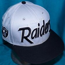 Oakland Las Vegas Raiders New Era 9Fifty Southside Snap Back Script Baseball Cap