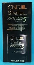 CND SHELLAC XPRESS 5 TOP COAT ~ 5 Minute Express Removal ~ .25 oz / 7.3 mL NEW