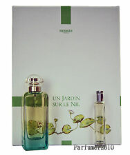 Hermes Un Jardin Sur Le Nil Set 100ml EDT Eau de Toilette Spray + 15ml EDT Spray