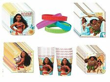 Moana Basic Birthday Party Supplies for 8 Plates, Cups, Napkins
