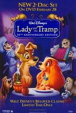 LADY AND THE TRAMP Movie POSTER 27x40 B Larry Roberts Peggy Lee Barbara Luddy