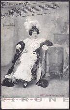 LA BOHEME 04 GIACOMO PUCCINI OPERA LIRICA MUSICA Cartolina circa 1900 ALTEROCCA