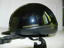 BLACK HORSE RIDING HAT HELMET = INTERNATIONAL = SIZE LARGE SA24